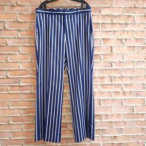 NWOT Blake-Fit Twill Stripe Trousers